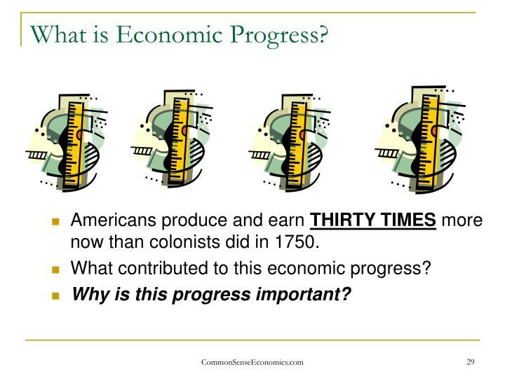 What is Economic Progress?