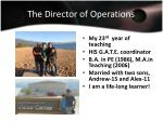 the director of operations