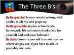 the three b s
