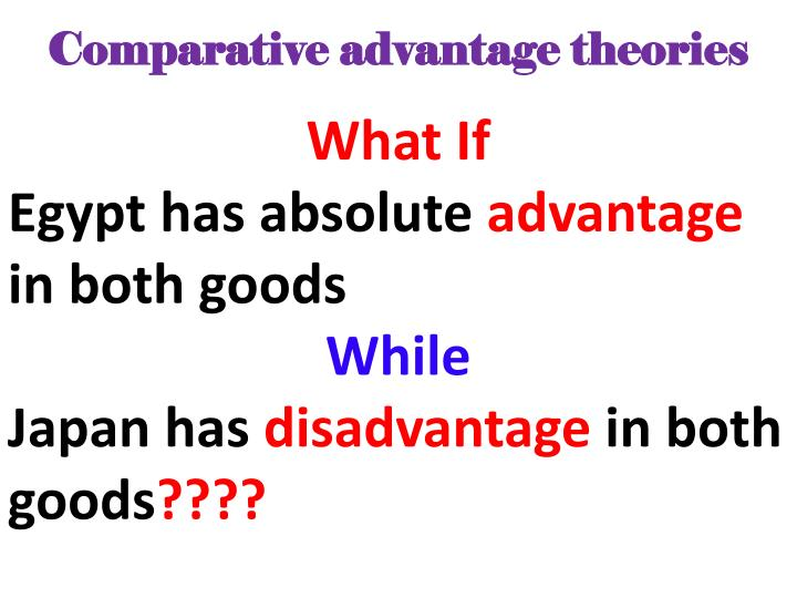Comparative advantage theories