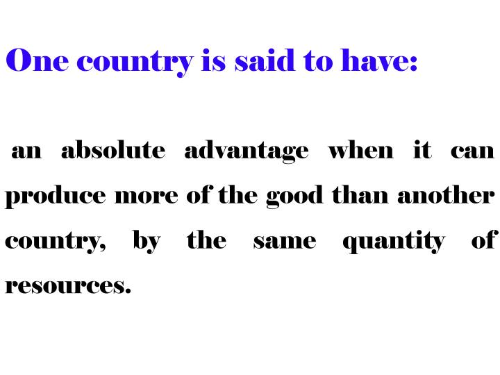 One country is said to have: