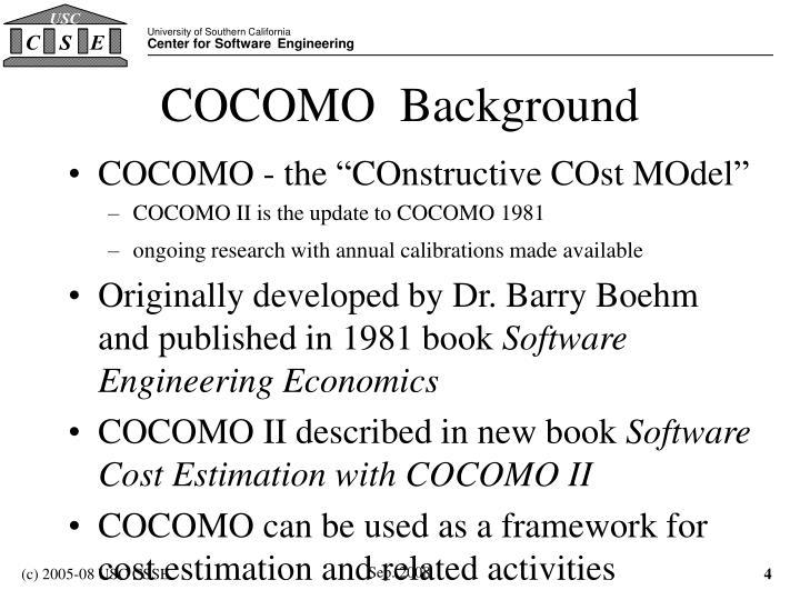 COCOMO  Background