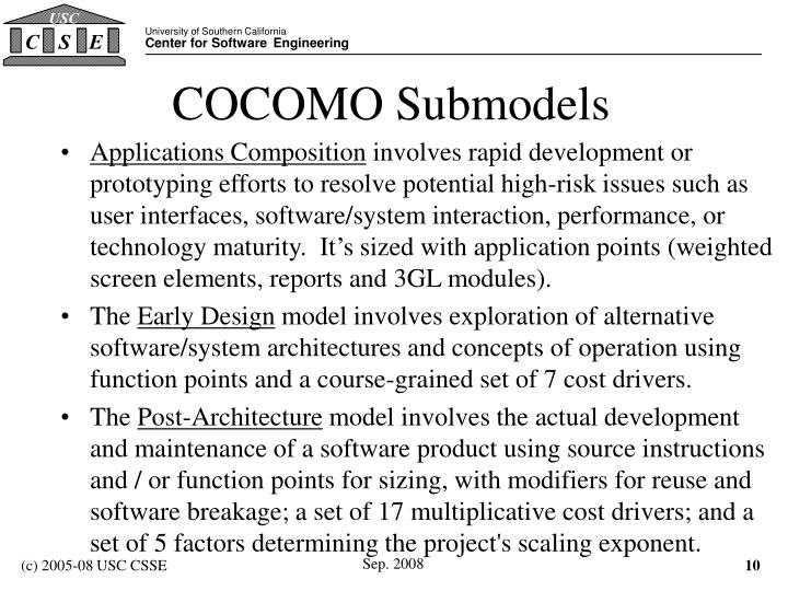 COCOMO Submodels