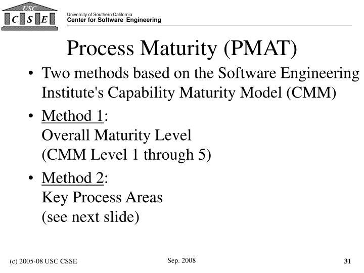 Process Maturity (PMAT)