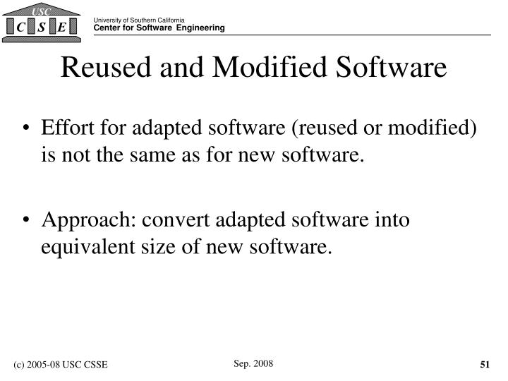Reused and Modified Software