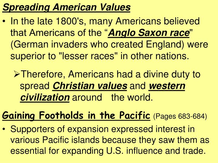 Spreading American Values