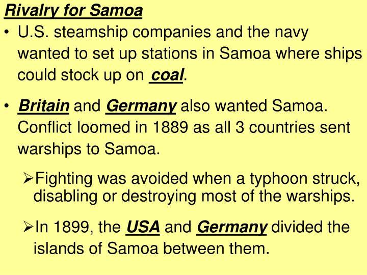 Rivalry for Samoa