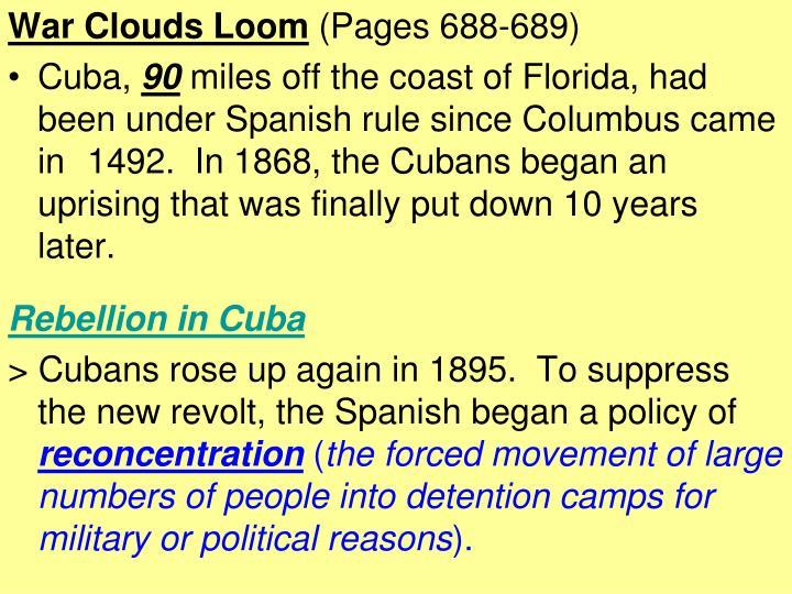 War Clouds Loom