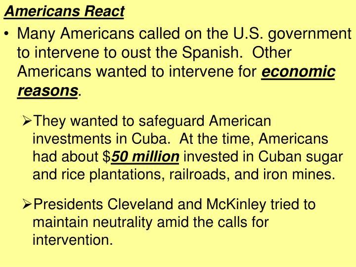 Americans React