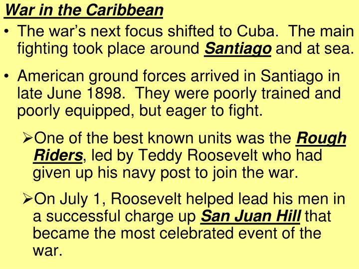 War in the Caribbean