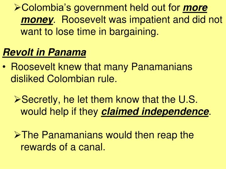 Colombia's government held out for