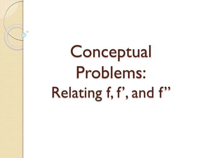 conceptual problems relating f f and f n.