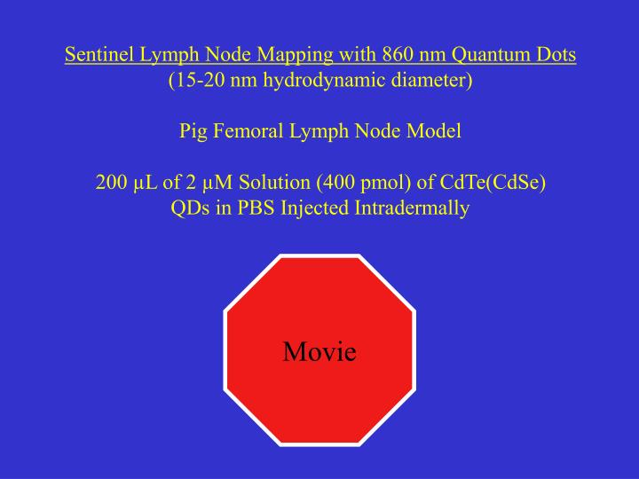 Sentinel Lymph Node Mapping with 860 nm Quantum Dots