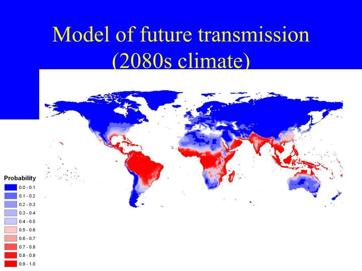 Model of future transmission (2080s climate)