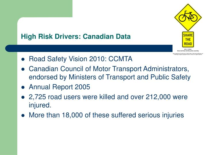 High Risk Drivers: Canadian Data