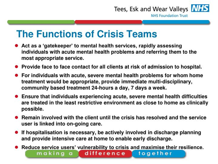 The Functions of Crisis Teams