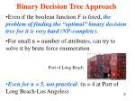 binary decision tree approach4
