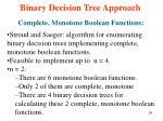 binary decision tree approach8