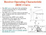 receiver operating characteristic roc curve