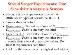 stroud saeger experiments our sensitivity analysis 4 sensors