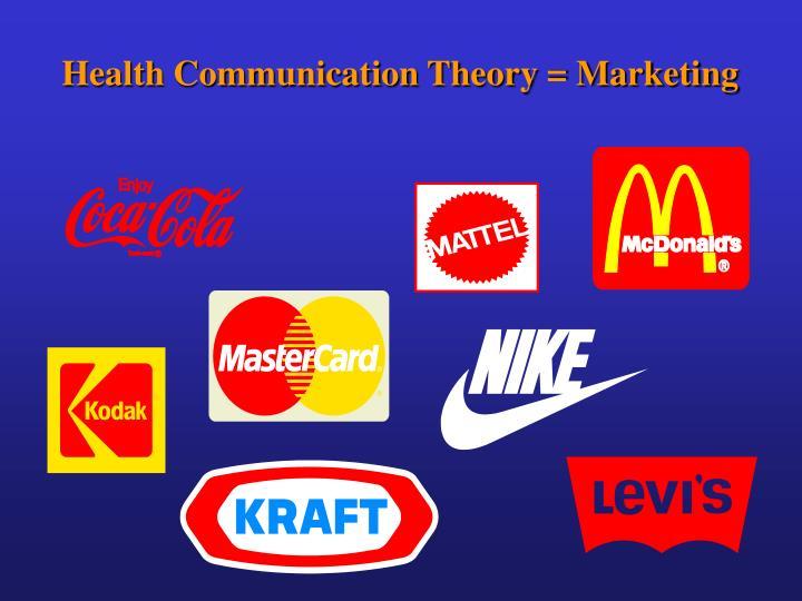 Health Communication Theory = Marketing