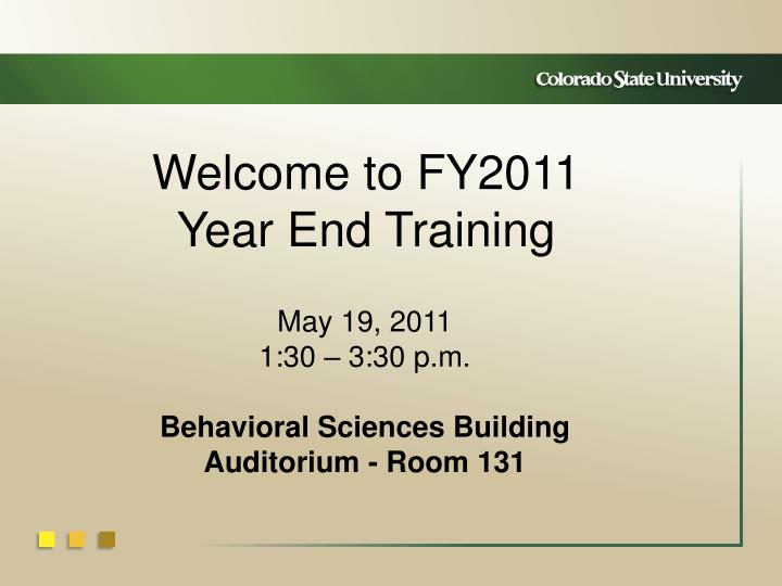 welcome to fy2011 year end training n.