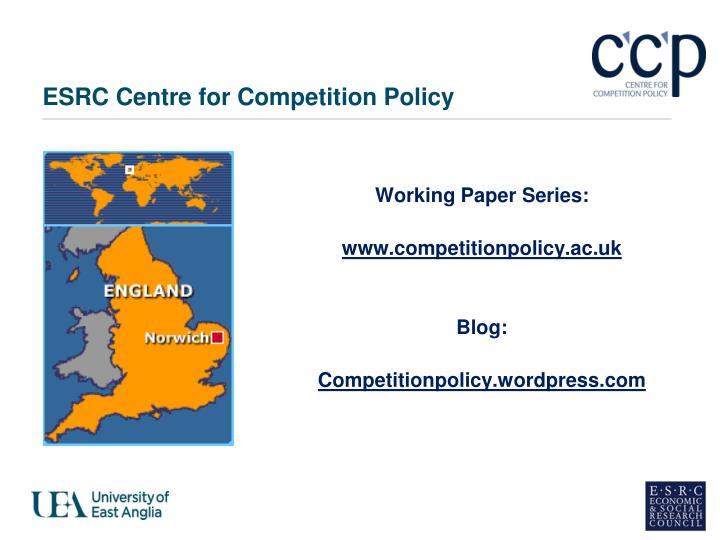 Esrc centre for competition policy