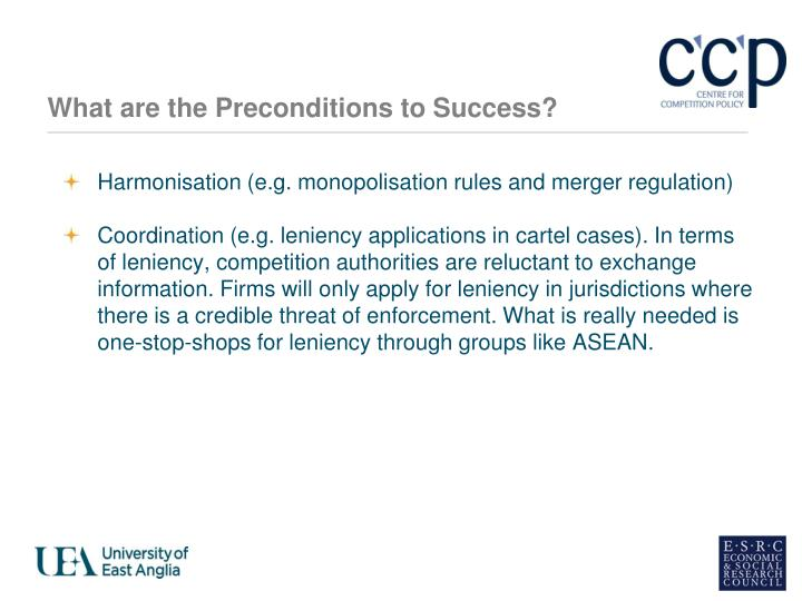 What are the Preconditions to Success?
