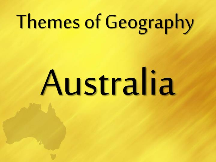 themes of geography n.