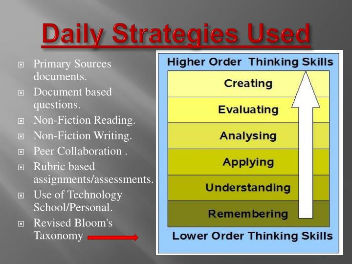 Daily Strategies Used