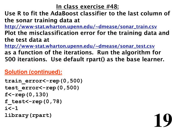 In class exercise #48: