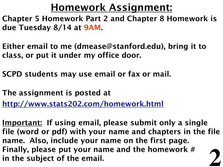 Homework Assignment:
