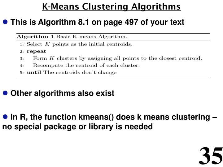 K-Means Clustering Algorithms
