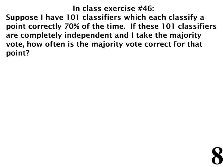 In class exercise #46: