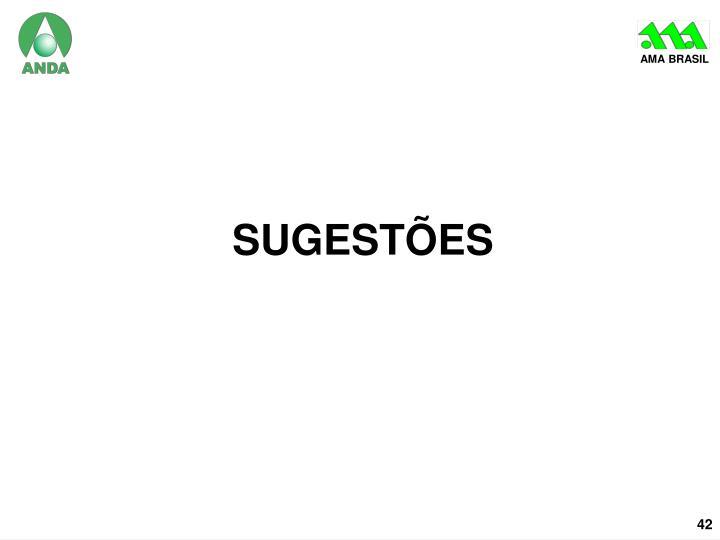 sugestões