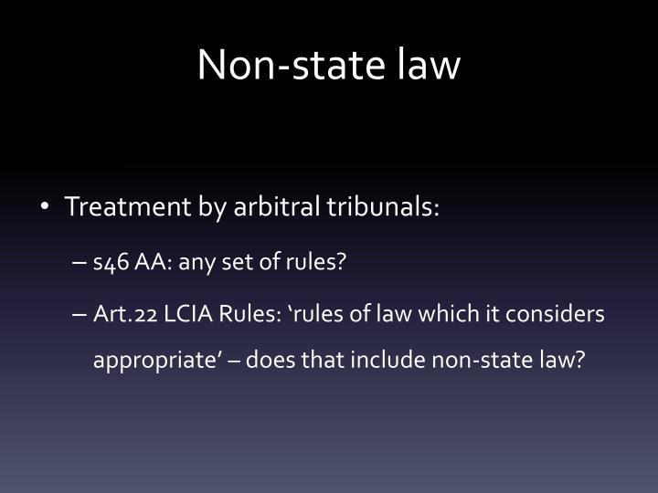 Non-state law