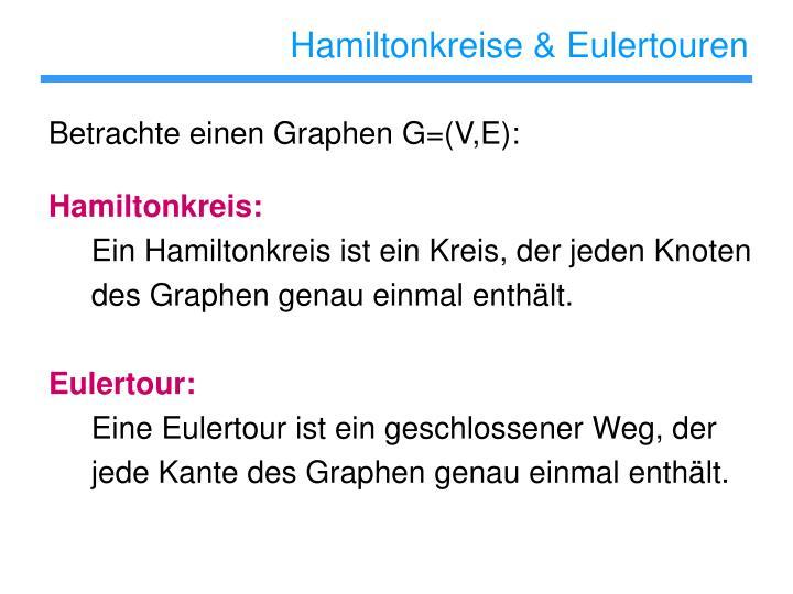 Hamiltonkreise & Eulertouren