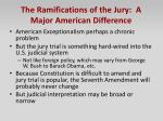 the ramifications of the jury a major american difference