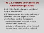 the u s supreme court enters the punitive damages arena