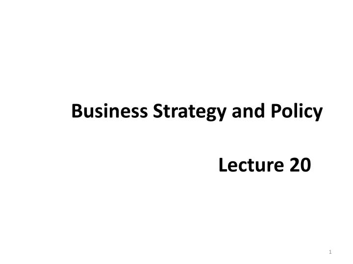 business strategy and policy n.