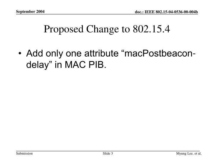 Proposed change to 802 15 4