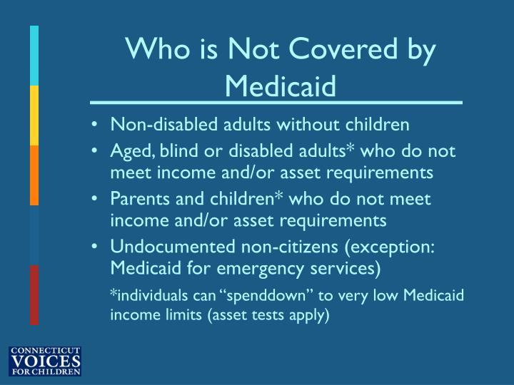 Who is not covered by medicaid