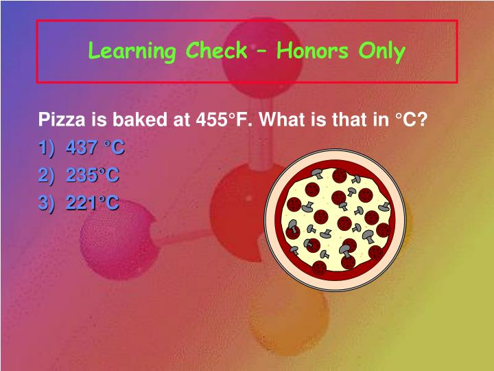 Learning Check – Honors Only