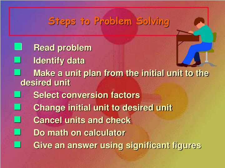 Steps to Problem Solving