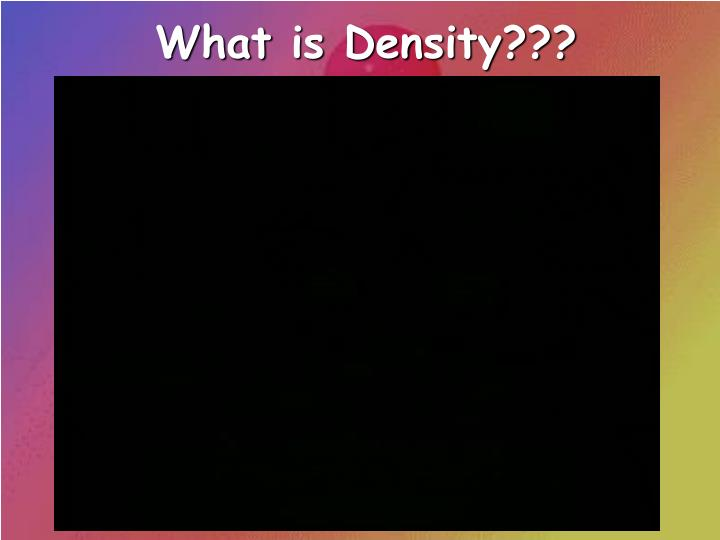What is Density???