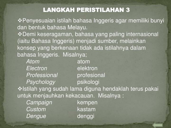 LANGKAH PERISTILAHAN 3