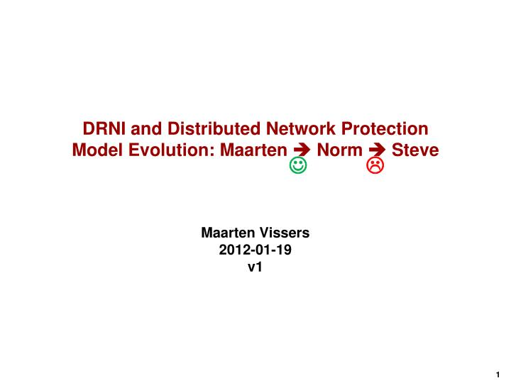 DRNI and Distributed Network Protection