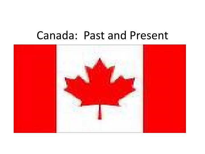 canada past and present n.