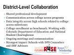 district level collaboration