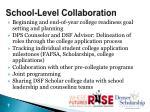 school level collaboration